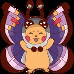 [REDRAW] Vivillon Pikachu by char1cific
