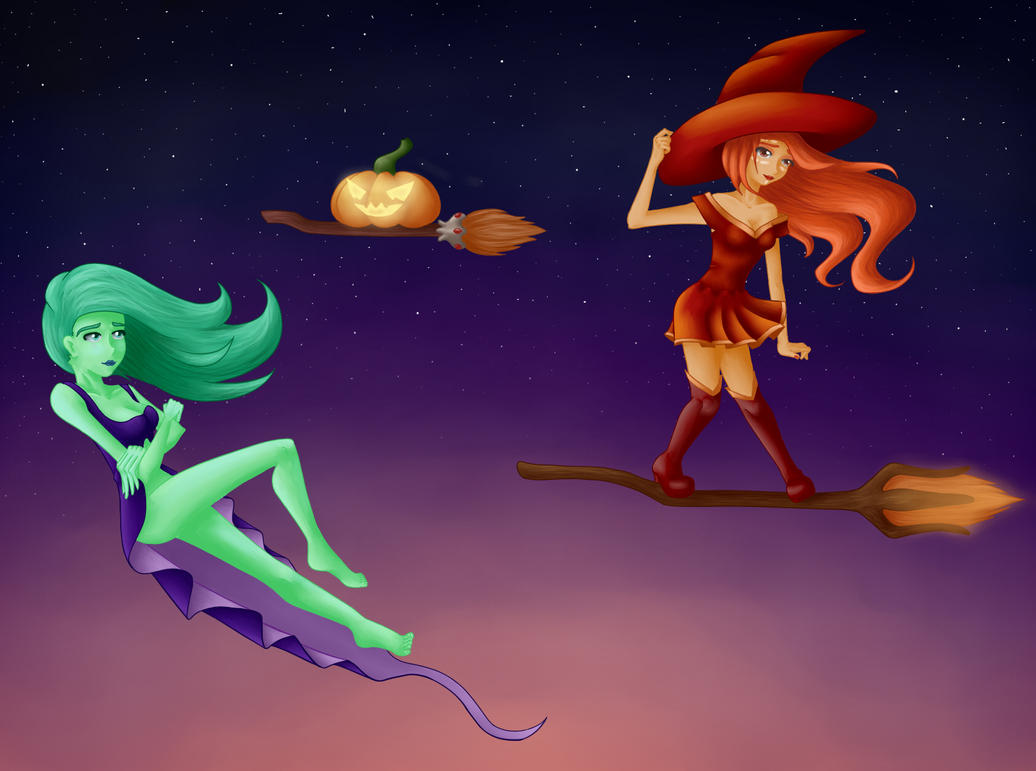 Halloween Dota 2 | Lina and Death Prophet by Okssi on ...
