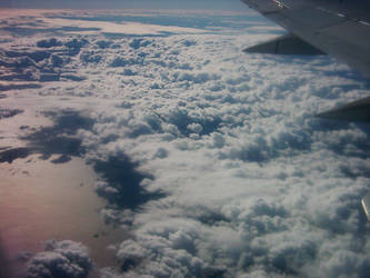 Sky shot from airplane by atamyrat