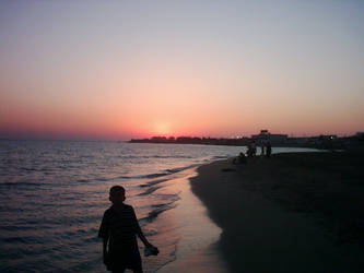 Sunset at Caspian sea by atamyrat