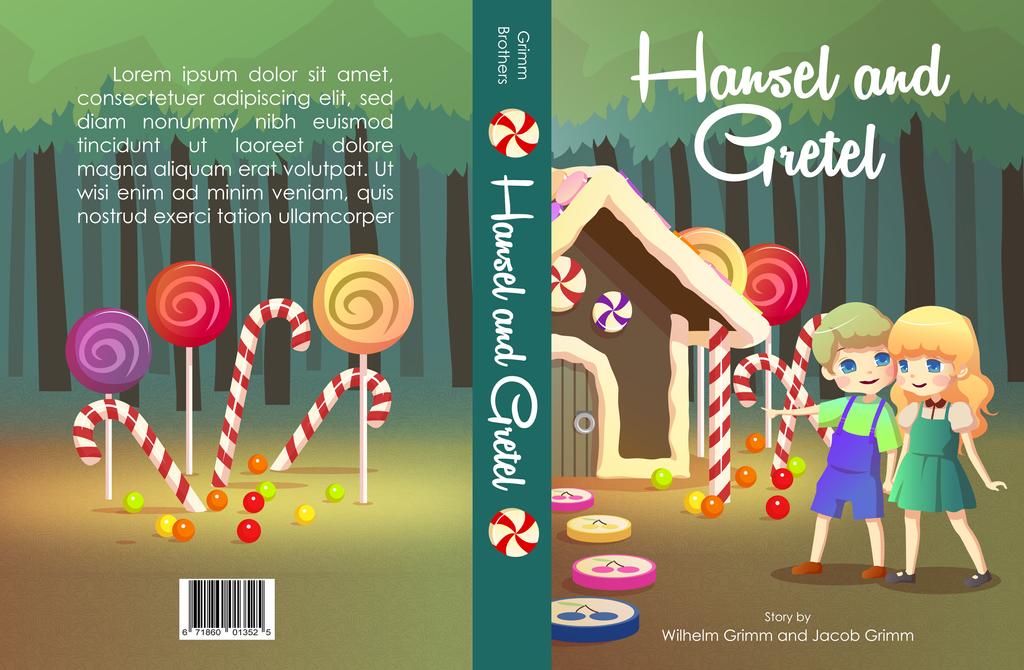 Children Story Book Cover Design ~ Hansel and gretel book cover design by jelenie on deviantart