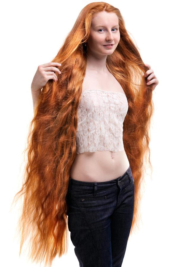 Голые с длинными волосами фото