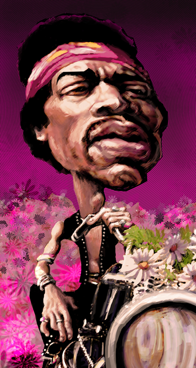Jimi Hendrix final version by gabrio76