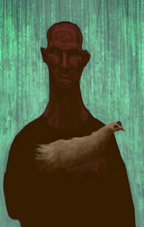 chicken man by gabrio76
