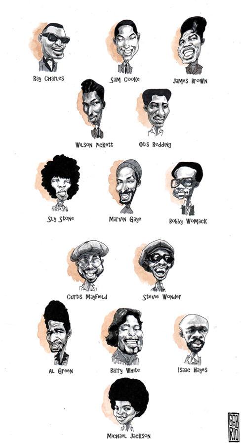 soul funk singers 50s 60s 70s