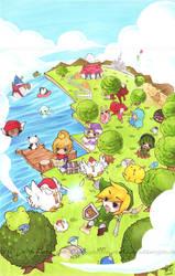 Zelda: Around the World by rubberyjido