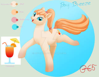 Character reference: Bay Breeze [pony OC]