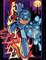 Megaman slide by Yami-jo