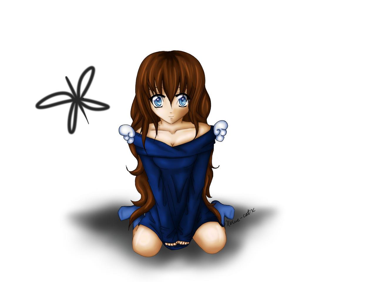 Anime Girl by xblue-catx