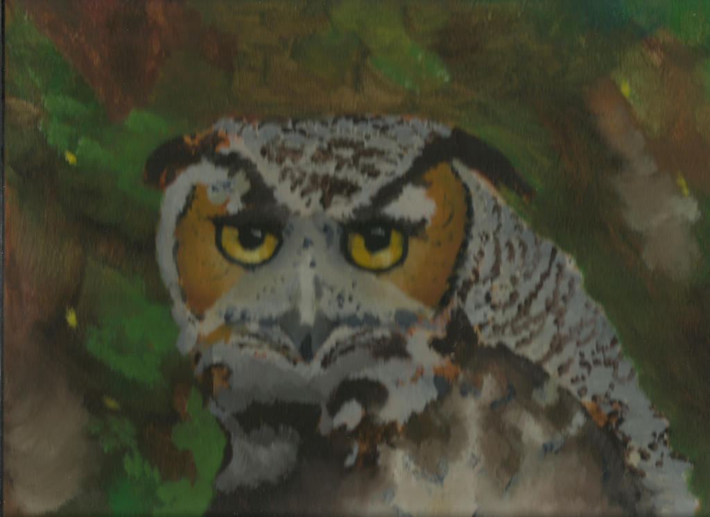 Owl In Oil by auburn42