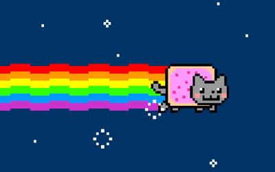 Nyan Cat Logo by jonathanhher