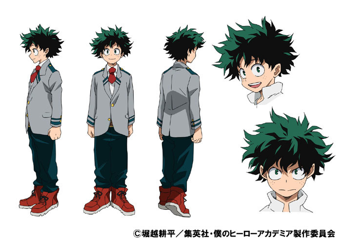 Izuku's Anime Colored Character Design by ChibiConan