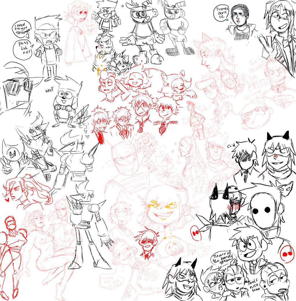 drawpile with my friend by ChibiConan