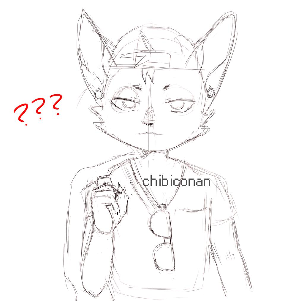 ? sketch by ChibiConan