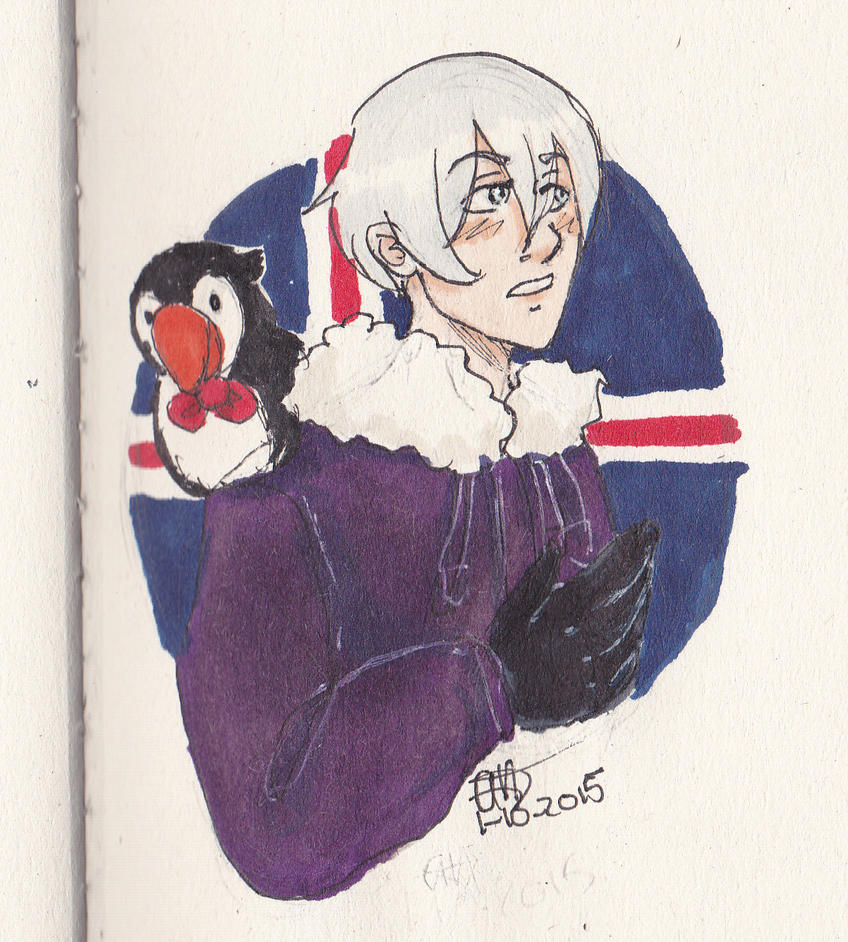 Icey with mr. puffin by AnnHolland