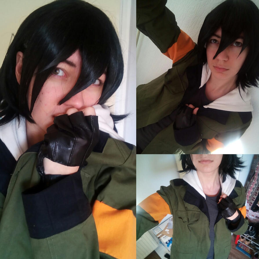 Keith cosplay with Lance's jacket by AnnHolland