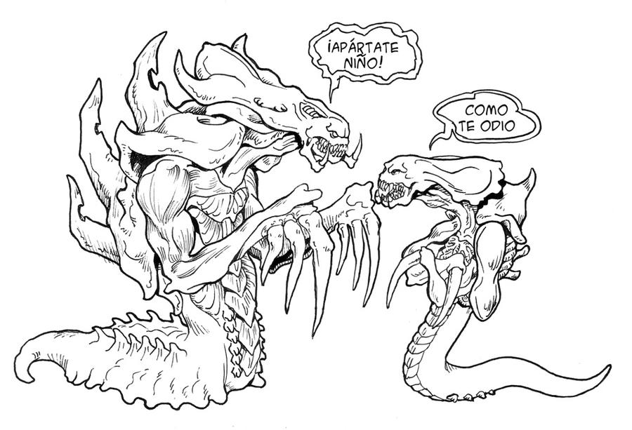 starcraft 2 coloring pages - pin starcraft 2 hydra on pinterest