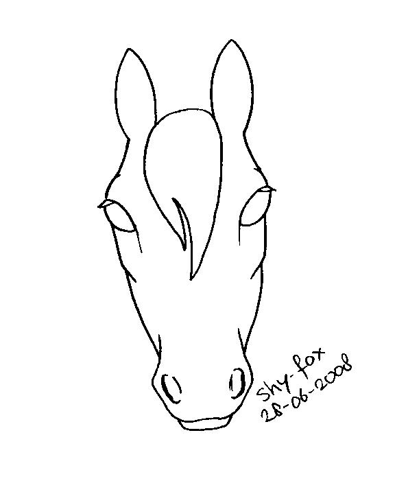 horse head lineart by shy-fox on DeviantArt