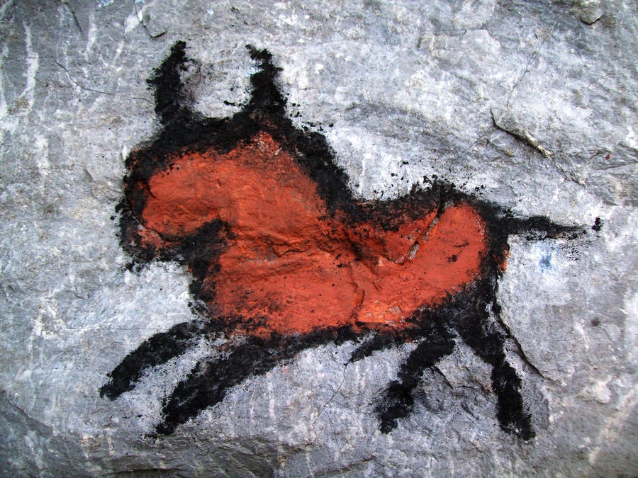taurus in cavepainting by shy-fox