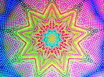 Kaleidoscope star on grid