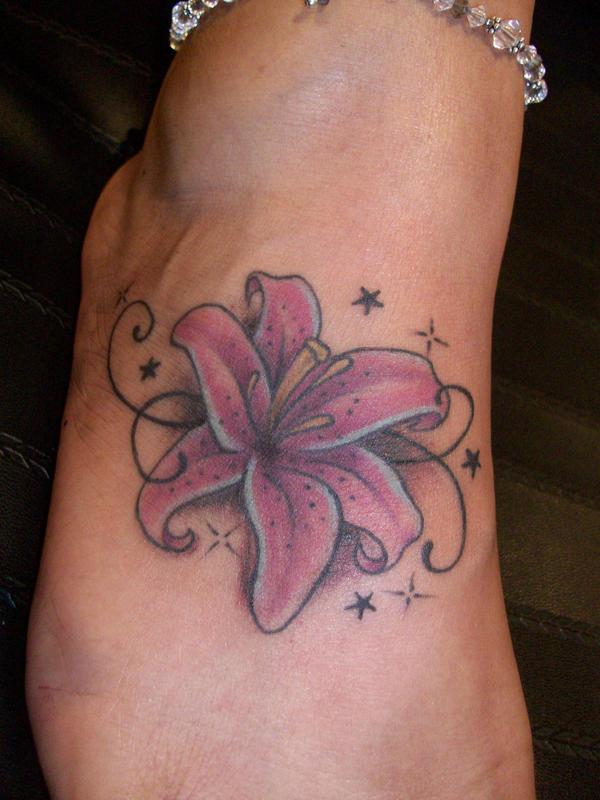 Lily swirl tattoo by ~kasini on deviantART