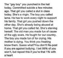Spread the word, bullying is wrong