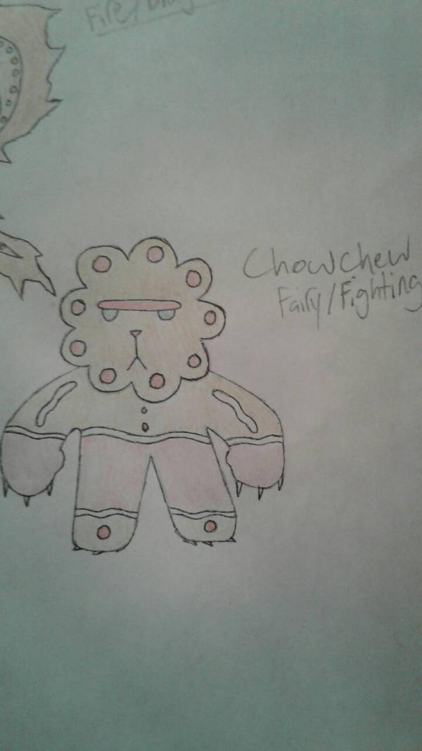 Chowchew (Colored [Colored Pencils], Penned) by suckerforfakemon