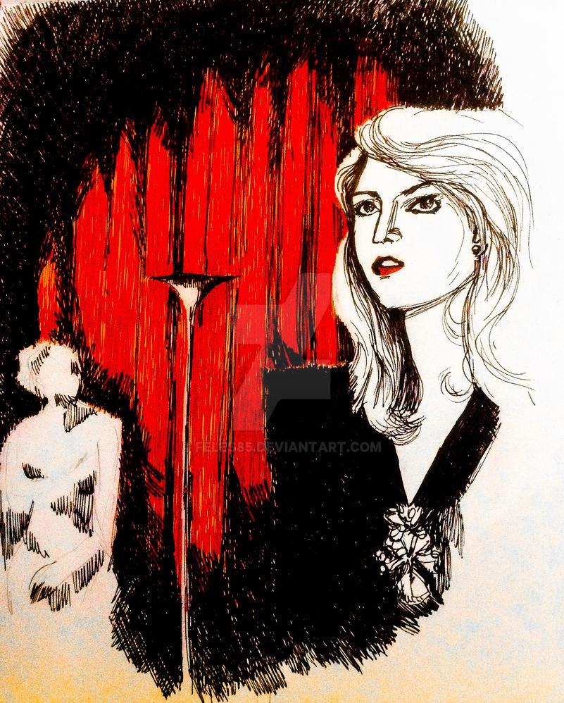 Laura Palmer sketch by Feles85