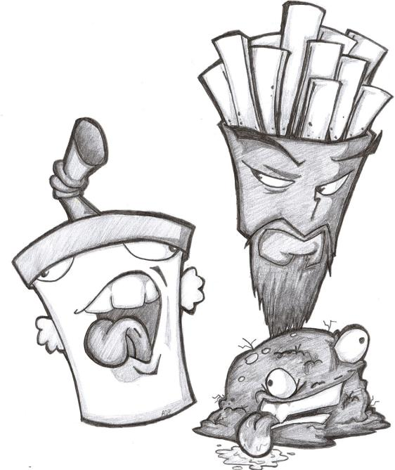 aqua teen hungerforce coloring pages - photo#3