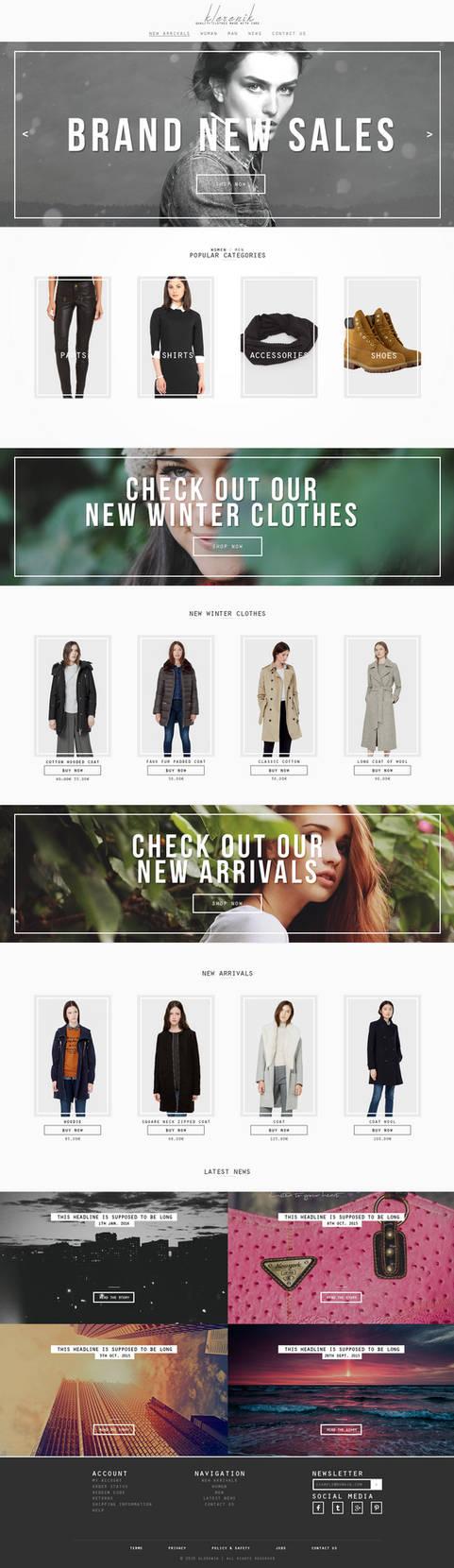 Responsive Clothing Store Website Design