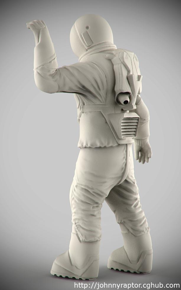 Astronaut for Scott Robertsons Orb Ship Resin Kit by pedramk