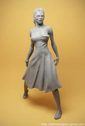 Zombie Jessica Resin Kit by pedramk
