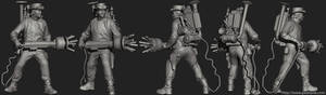 Steampunk Ghostbuster ZBrush
