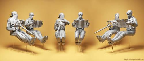 Steampunk Racers resin kit by pedramk
