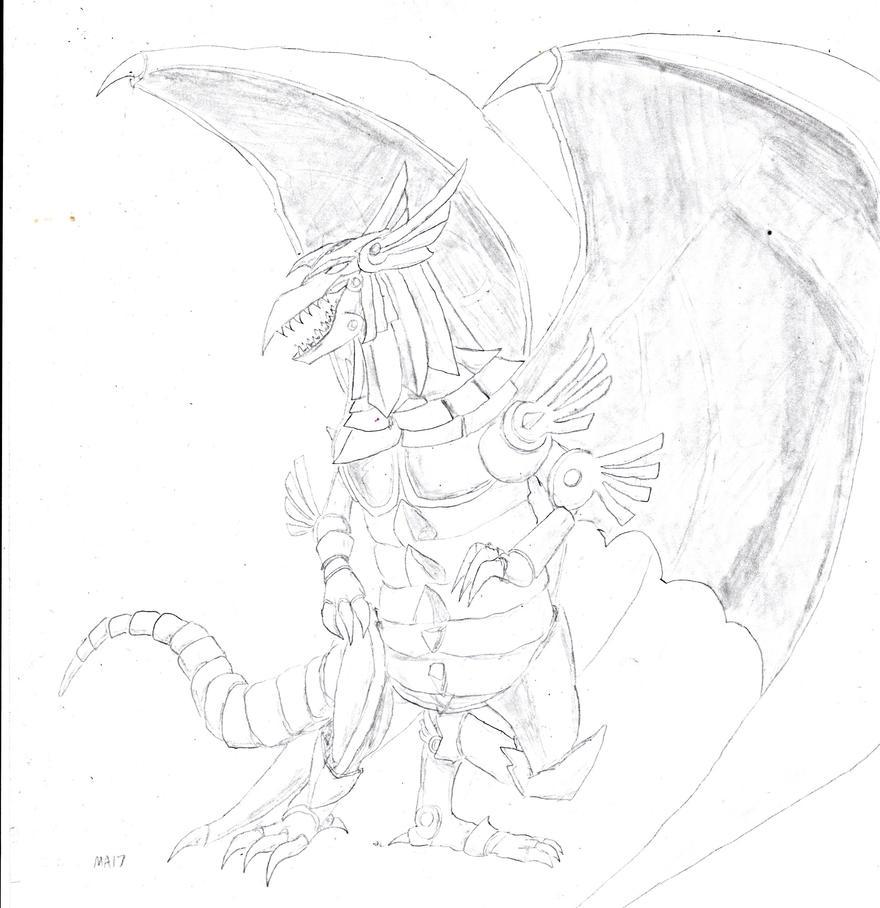 Yugioh Winged Dragon Of Ra Drawing