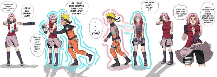 Switch scroll? Naruto/Sakura body swap -COMMISSION by UmbraCallistis