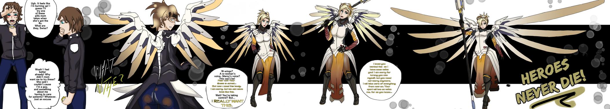 Mercy TG - Overwatch [Commission] by Gwyndolin115
