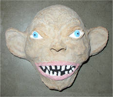 Gollum Mask by asubmarinewinter