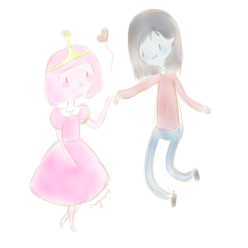 how to draw marceline and princess bubblegum