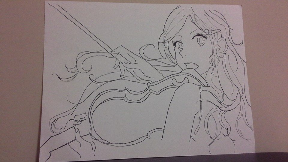 Your Lie In April Free Coloring Pages