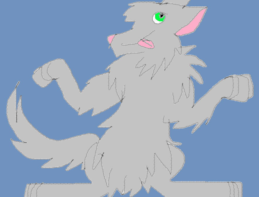 Shrug Wolf by littlebugp