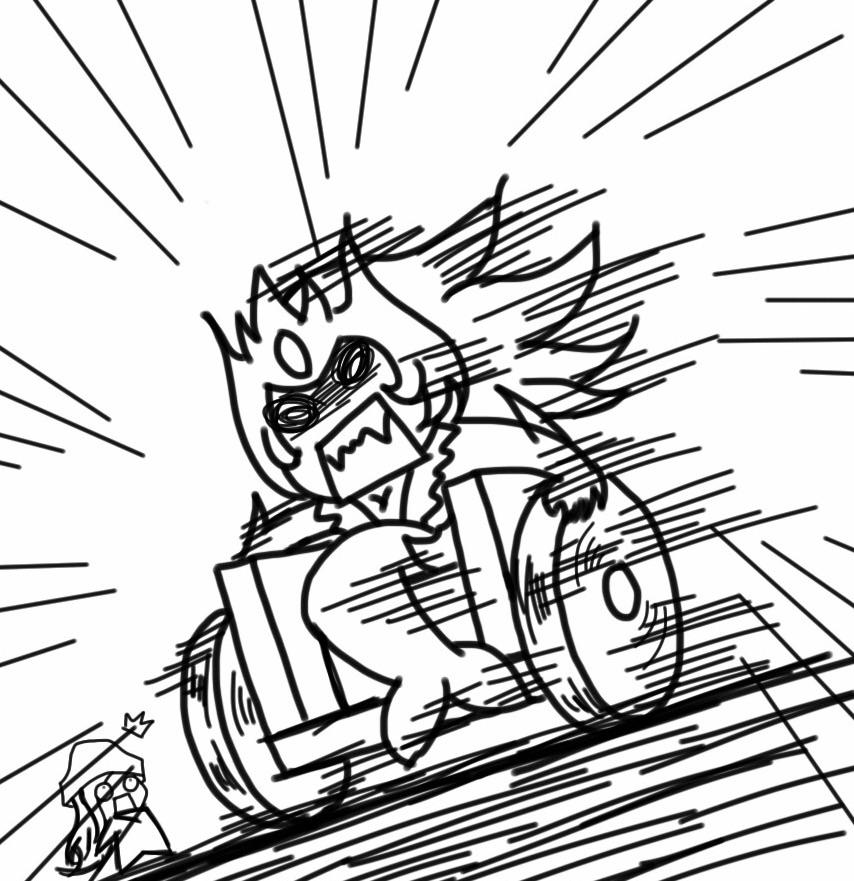 Nami with wheelchair by NaraEragon