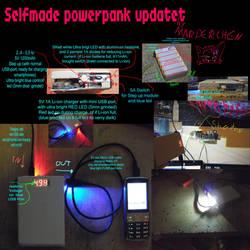 Device build 11.000mAh Powerabnk with light
