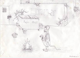 OLD DRAW lonely Mice by marderchen