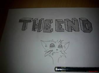 Pencil DRAW: THE END kitten by marderchen