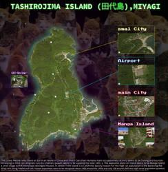 TASHIROJIMA ISLAND  (china katzeninsel) MAP mixed