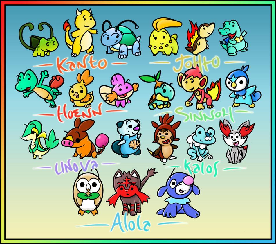 Shiny Starter Pokemon Images