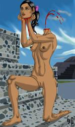 Human Pedestal by headlessFetish