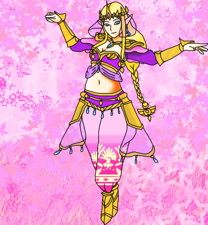 Genie Princess Zelda by airbornewife71