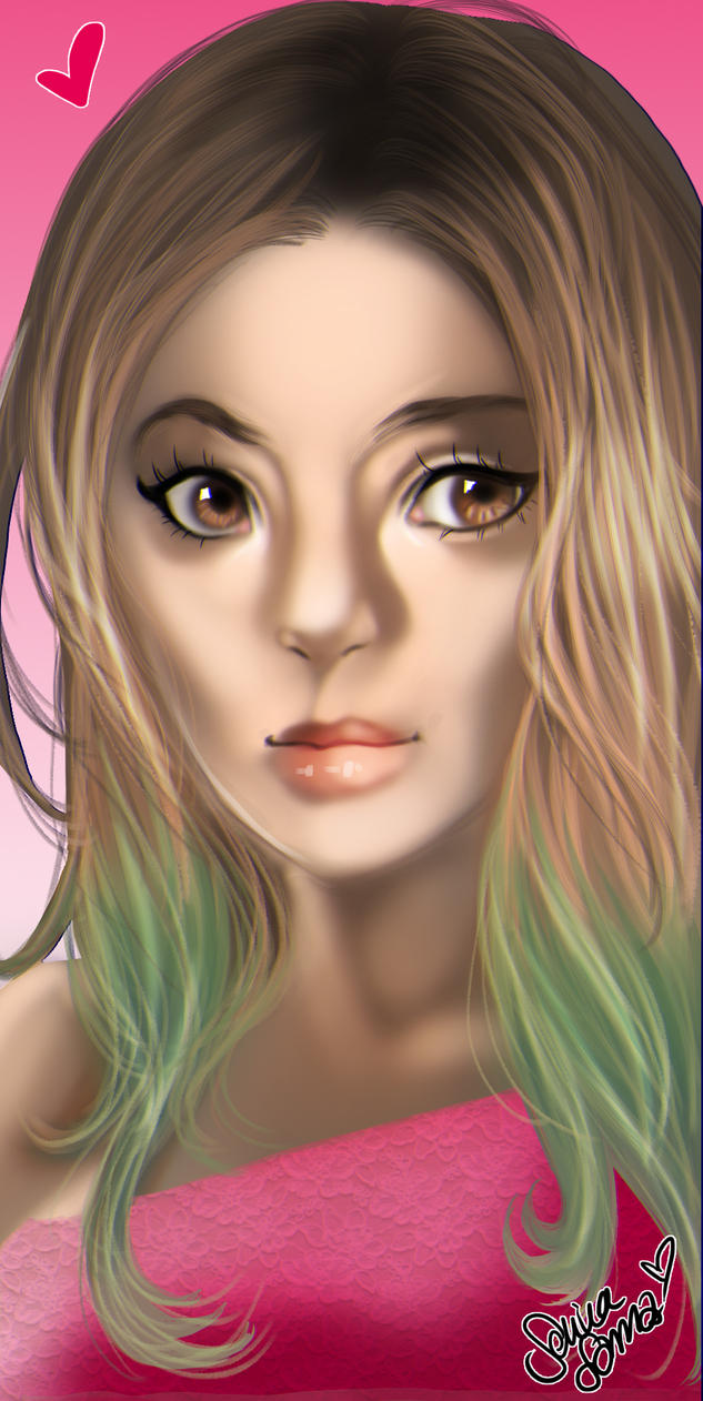 stylized Portrait of my beautiful friend :) by Drawer1000
